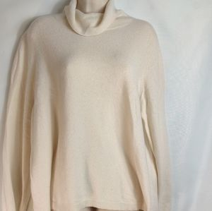 Nordstrom cashmere ivory turtleneck sweater 3X